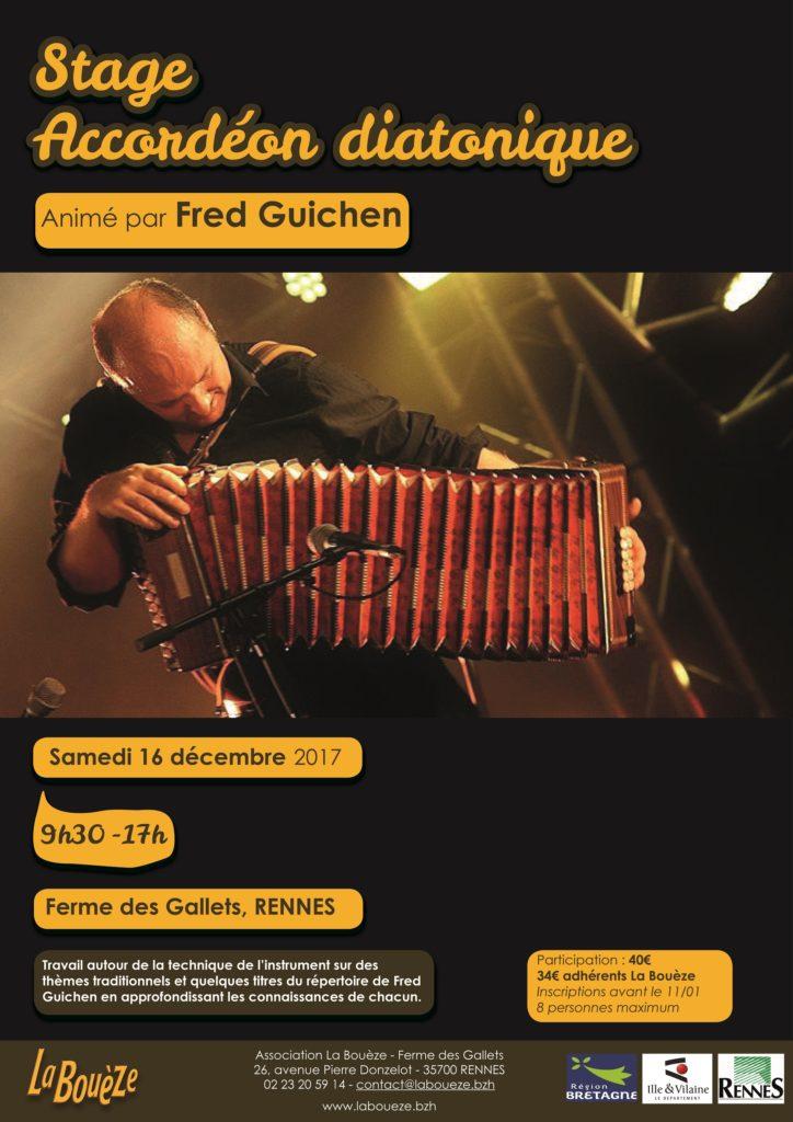 Stage Accordéon avec Fred Guichen - Sam 16 Déc