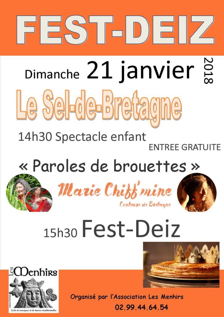 Fest-Deiz Le Sel-de-Bretagne Dim 21 Janv