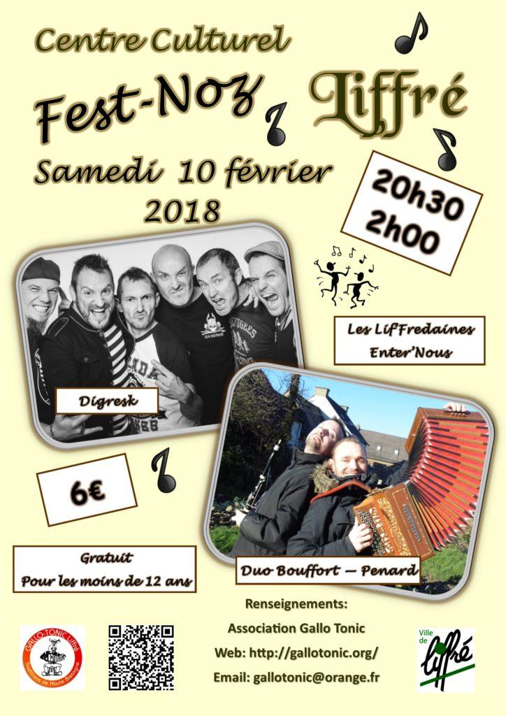 Sam 10 Fev - Fest-Noz Liffré