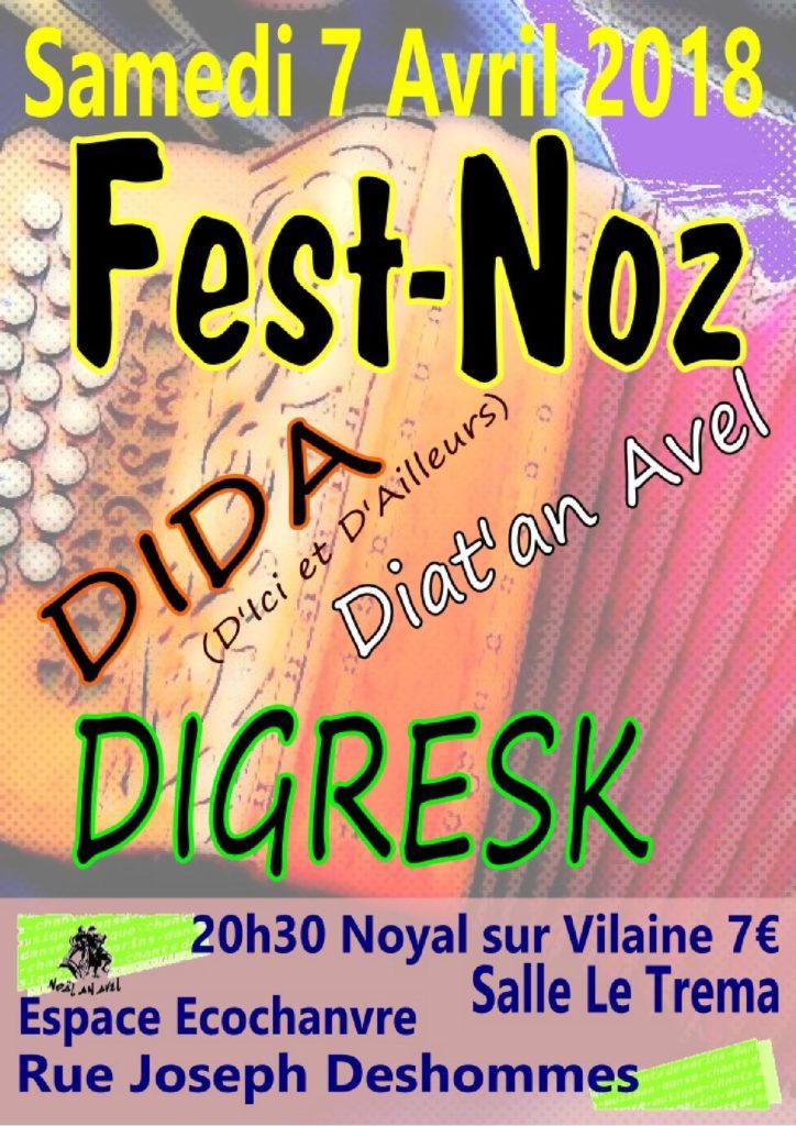 Sam 7 Avril : FEST-NOZ  - NOYAL SUR VILAINE