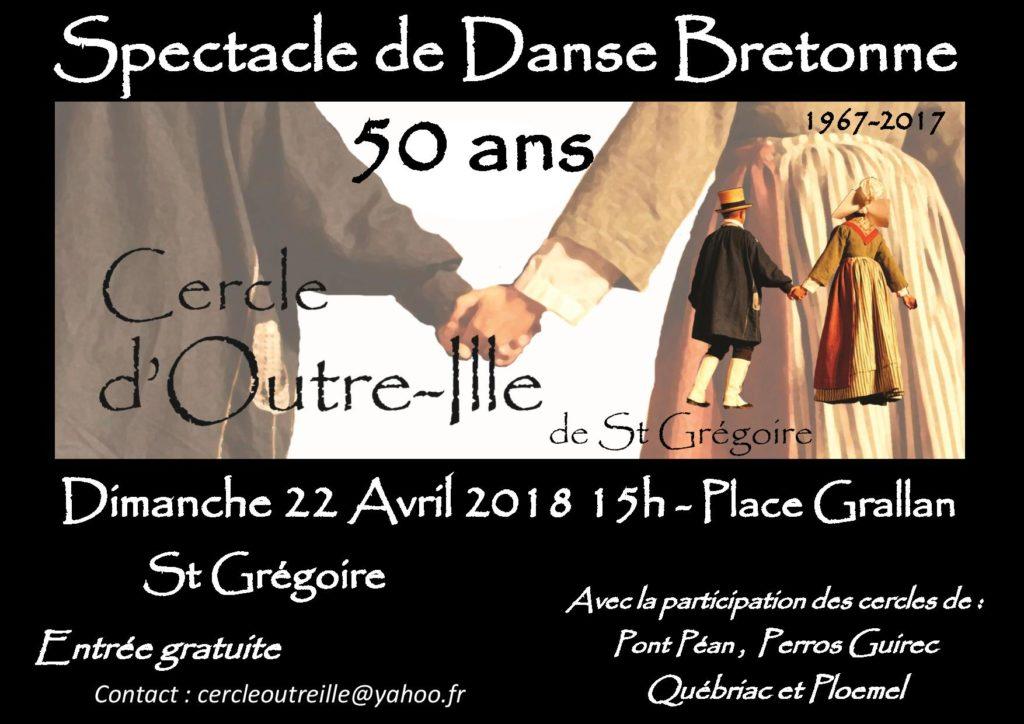 Dimanche 22 Avril - Spectacle de danse bretonne / St Grégoire