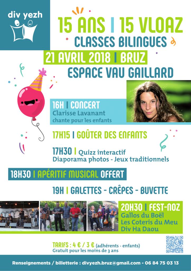 Samedi 21 Avril - 15 ans des classes bilingues à BRUZ