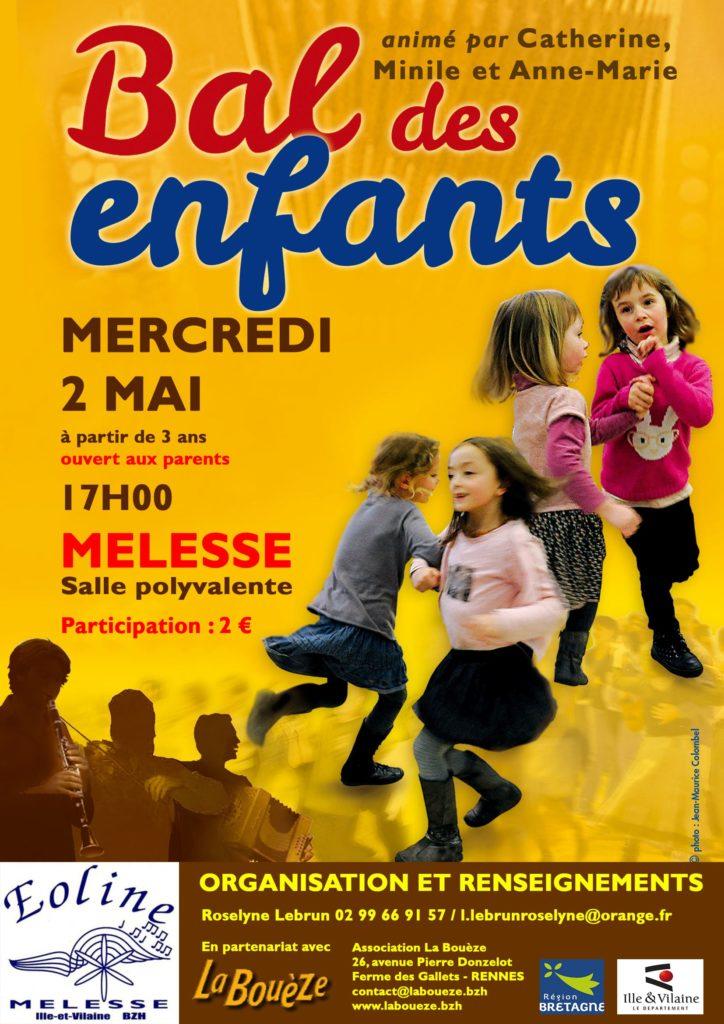 Mercredi 2 Mai : Bal des enfants - Melesse