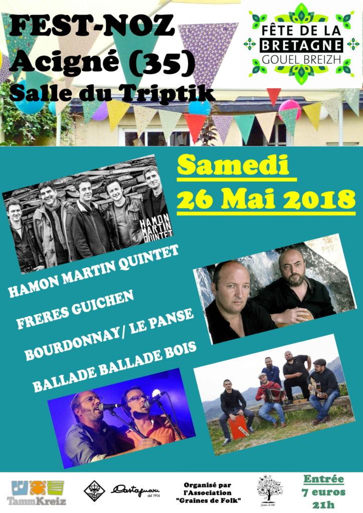 Samedi 26 Mai : Fest-Noz entre Bretagne et Sardaigne - Acigné