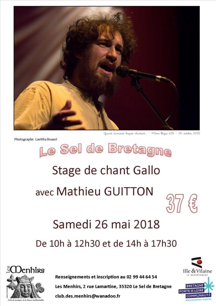 Samedi 26 Mai : Stage de chant Gallo - Le-Sel-de-Bretagne