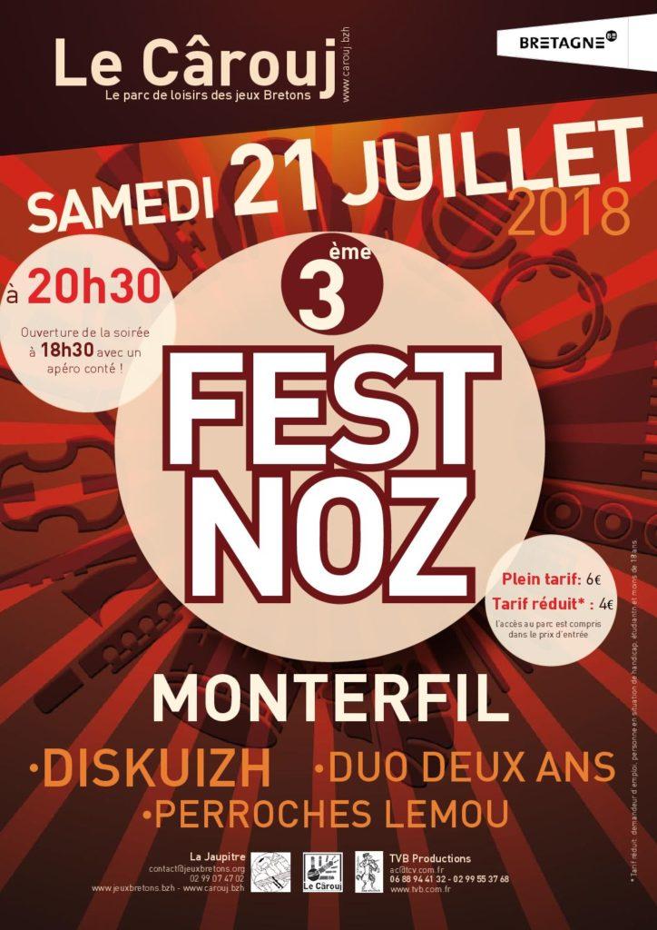 Samedi 21 Juillet : Fest-noz du Cârouj - Monterfil
