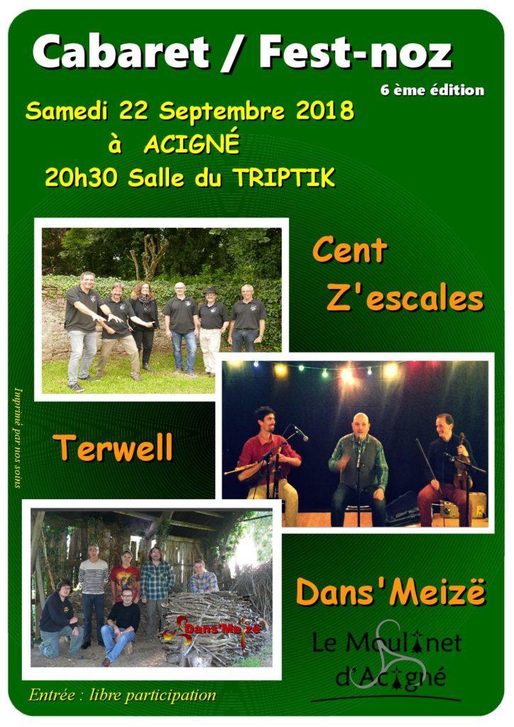Samedi 22 Septembre : Cabaret/Fest-noz - Acigné