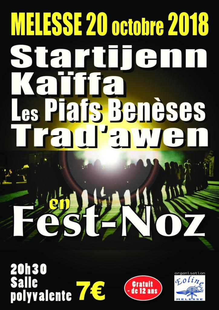Samedi 20 Octobre : Fest-noz - Melesse