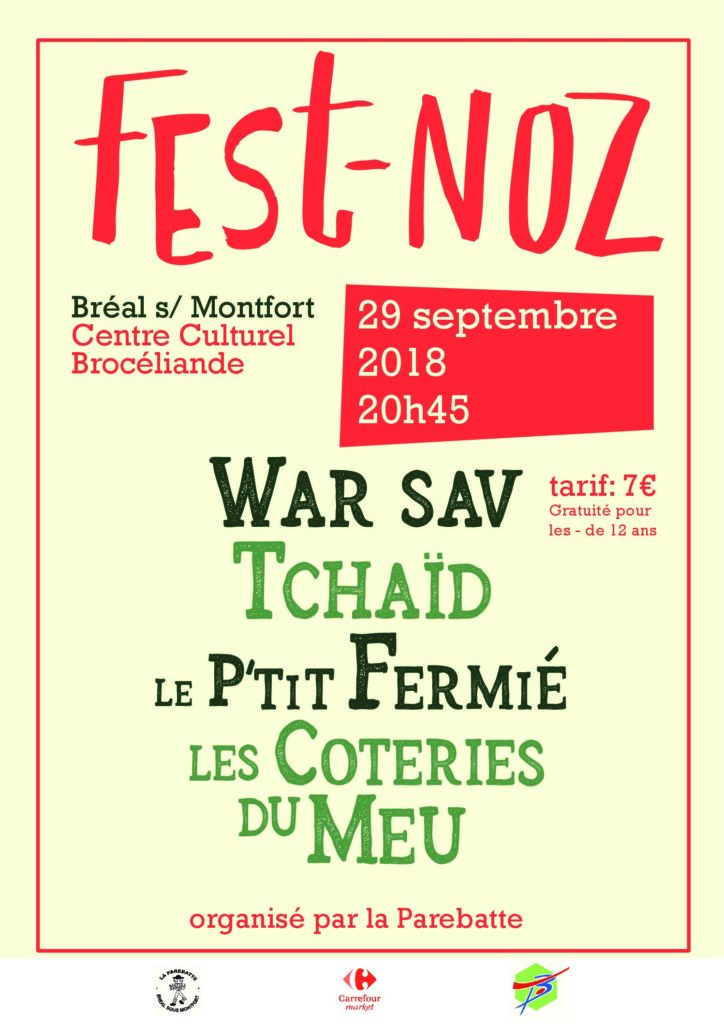 Samedi 29 Septembre : Fest-noz - Bréal-sous-Montfort