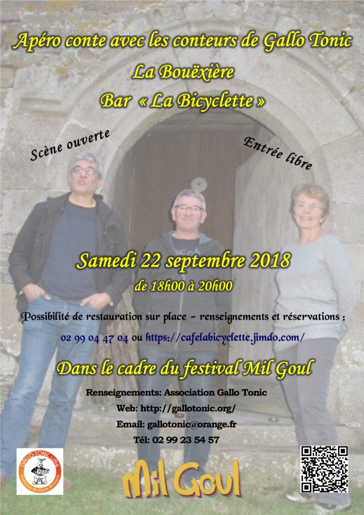 Samedi 22 septembre : Apéro-conte - La Bouëxière