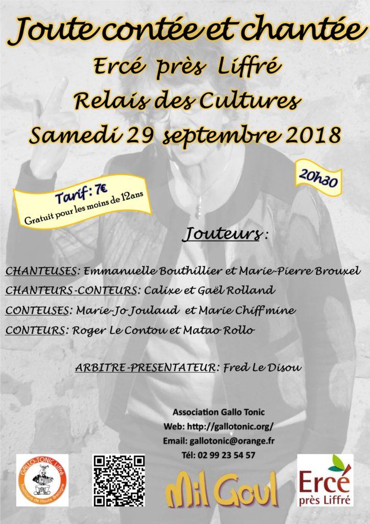 Samedi 29 septembre : Joute contée & chantée - Ercé près Liffré