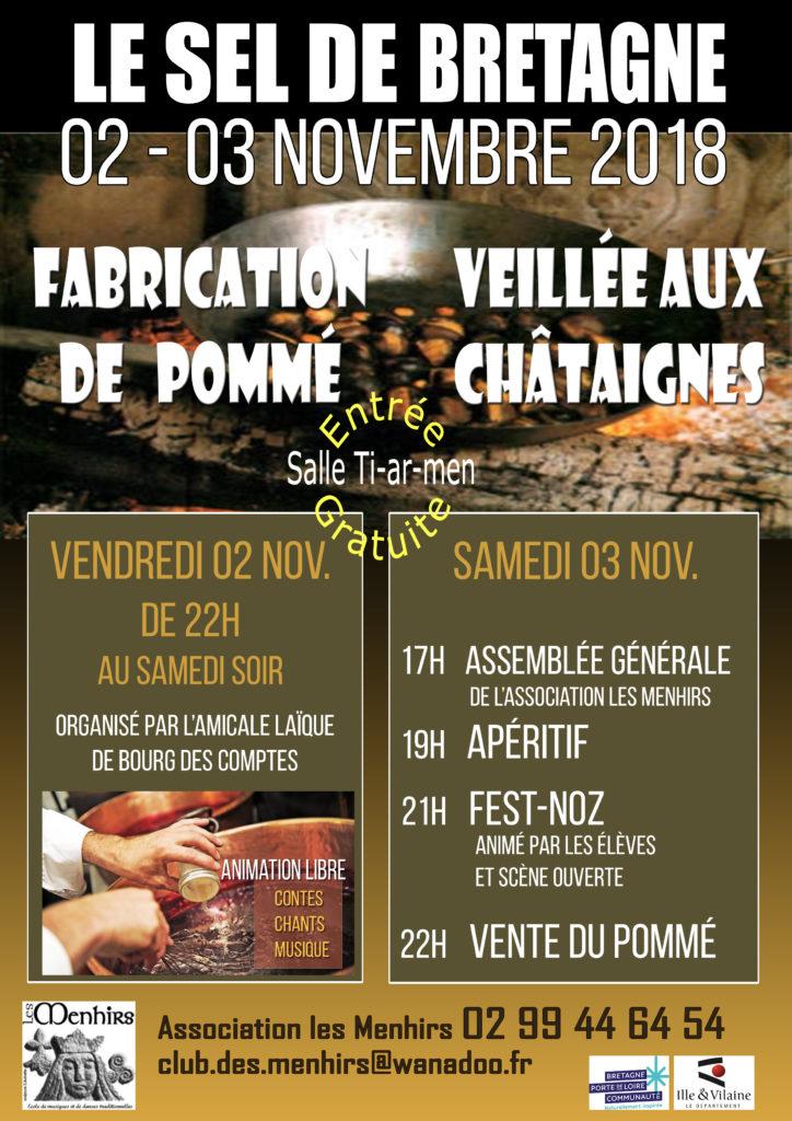 Ven. 2 / Sam. 3 Novembre : Fabrication de pommé / Veillée aux châtaignes - Le Sel de Bretagne