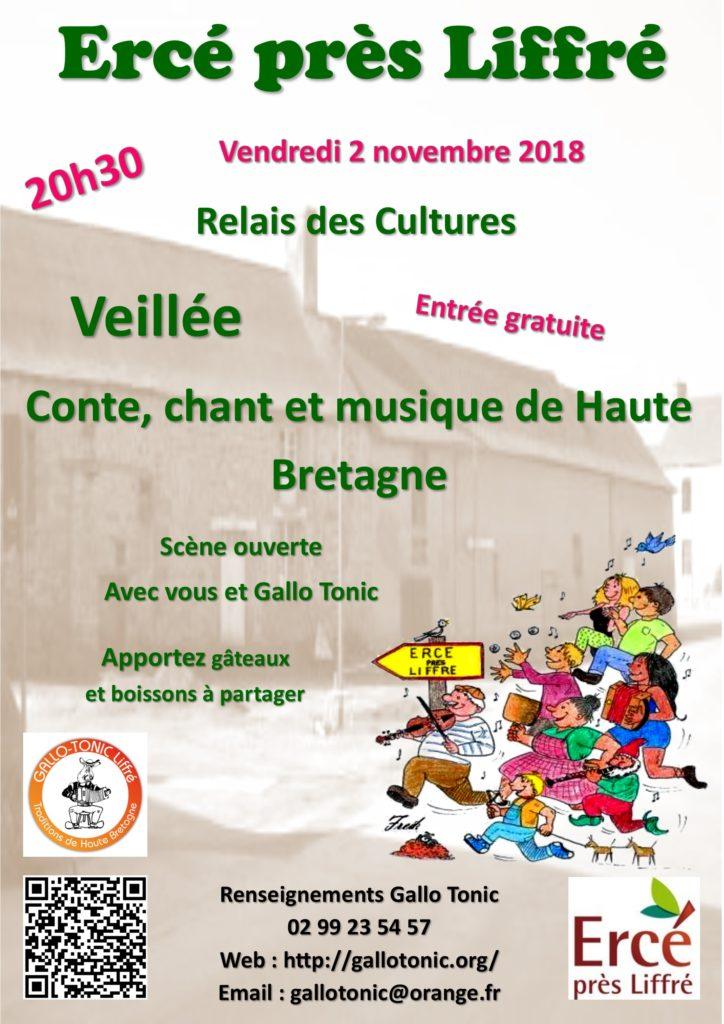 Vendredi 2 novembre : Veillée - Ercé-près-Liffré
