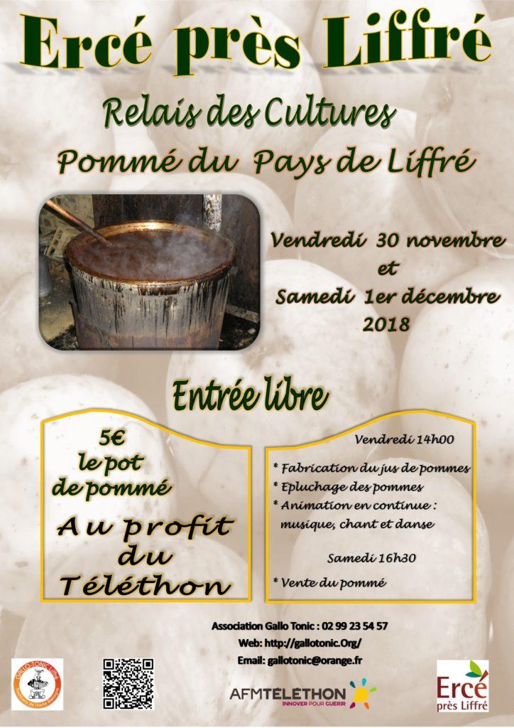 Vend 30 nov / Sam 1er déc : Pommé du pays de Liffré - Ercé-près-Liffré