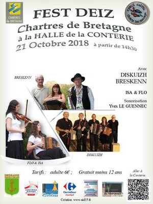 Dimanche 21 octobre : Fest-deiz - Chartres de Bretagne