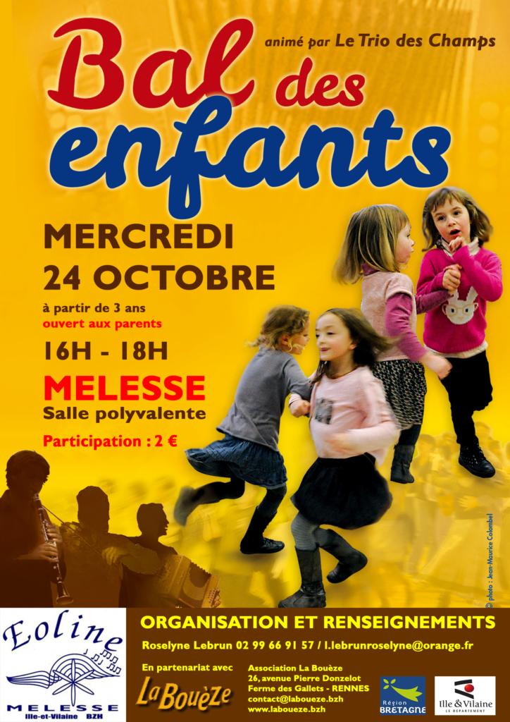 Mercredi 24 octobre : Bal des enfants - Melesse