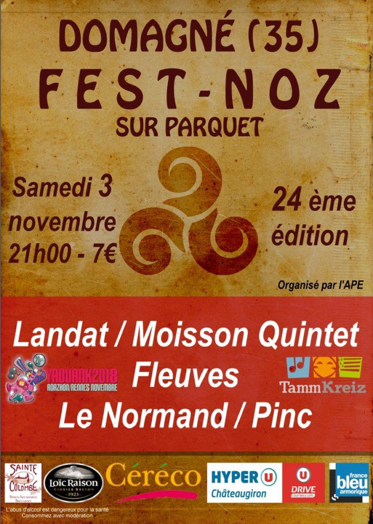 Samedi 3 novembre : Fest-noz - Domagné