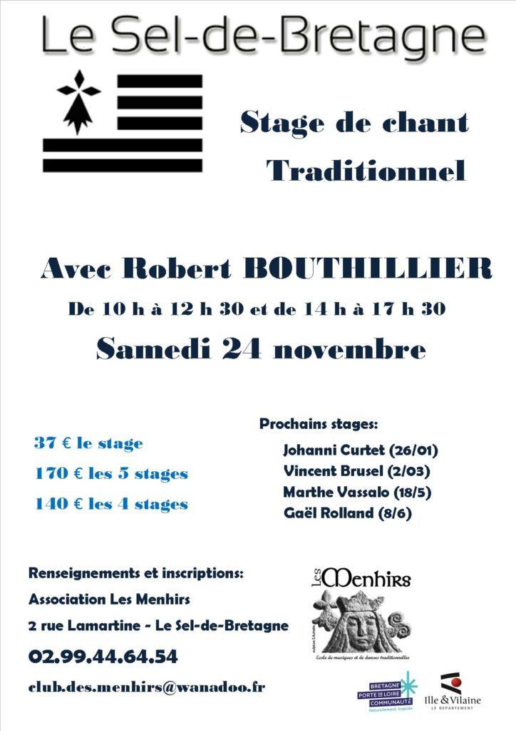 Sam 24 novembre : Stage de chant traditionnel – Le-Sel-de-Bretagne