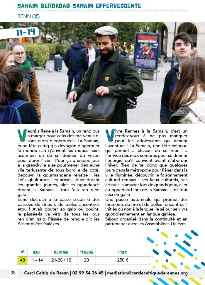 Du 21 au 28 octobre : Samain Berdadao - Rennes
