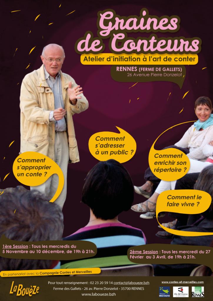 A partir du mercredi 7 novembre : Graines de conteurs - Rennes