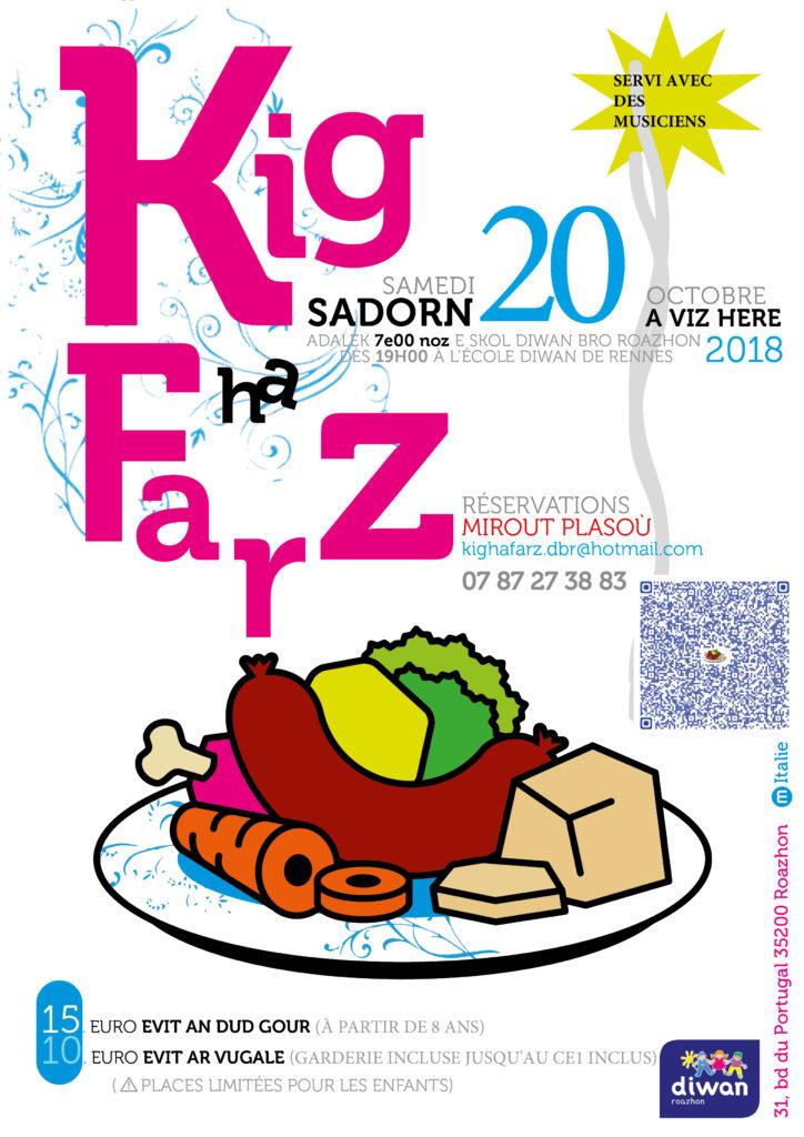 Samedi 20 octobre : Kig ha Farz Diwan Bro Roazhon - Rennes