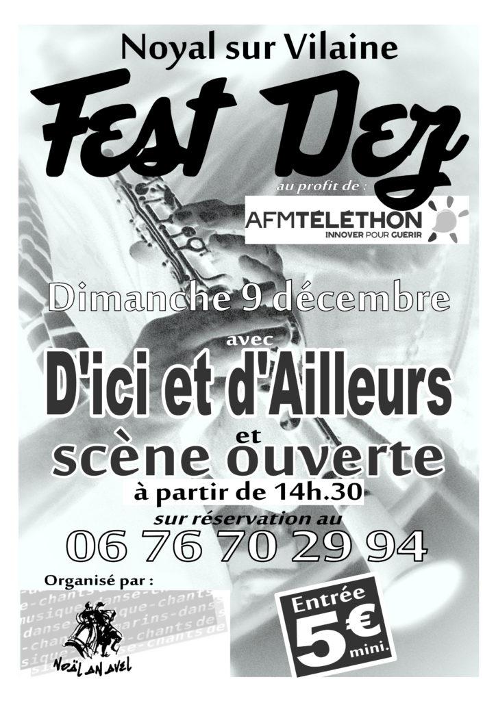 Dim 9 décembre : Fest-deiz - Noyal sur Vilaine