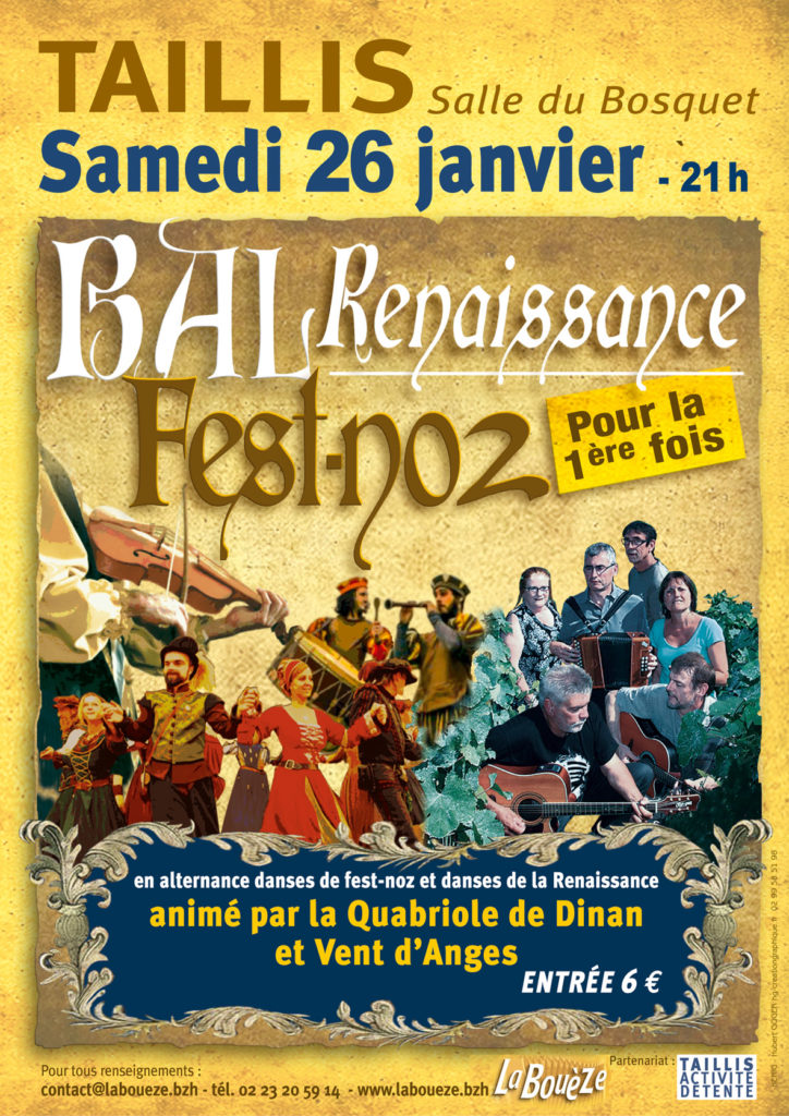 Samedi 26 janvier : Bal Renaissance/Fest-noz - Taillis