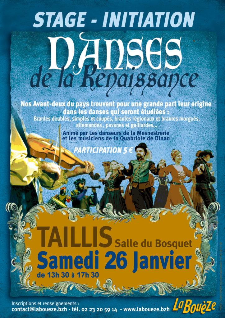 Samedi 26 janvier : Stage initiation danses de la Renaissance - Taillis