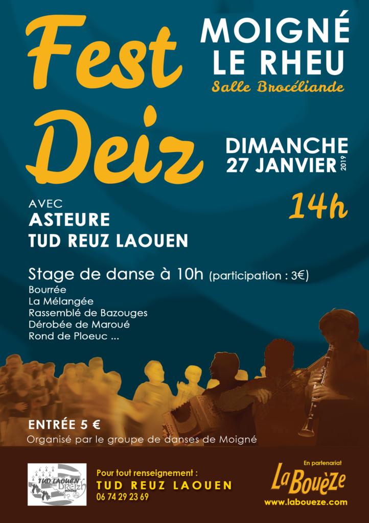 Dimanche 27 janvier : Stage/Fest-deiz - Moigné Le Rheu