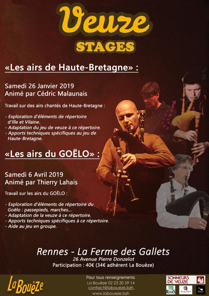 Samedi 26 janvier : Stage de Veuze - Rennes