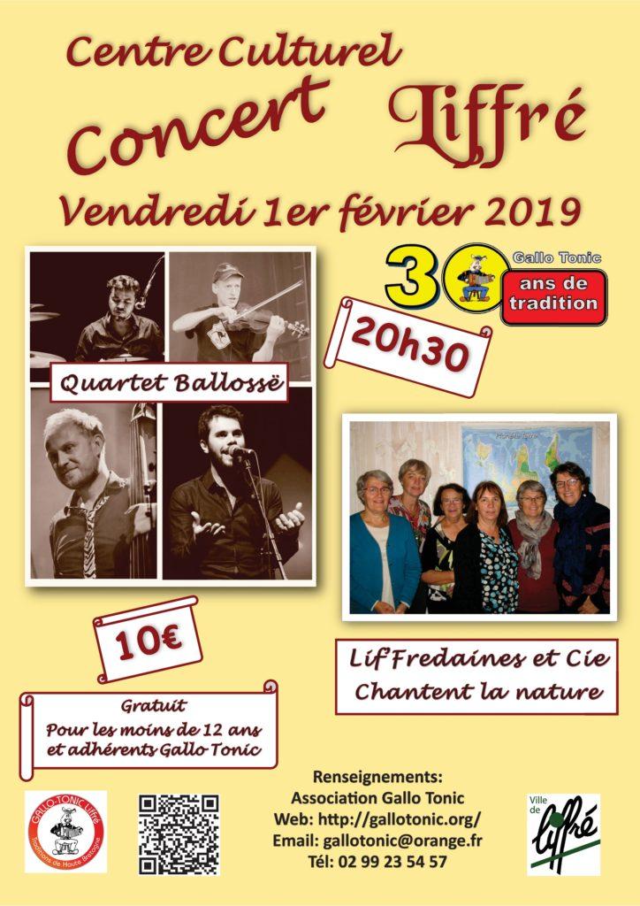 Vendredi 1er février : Concert – Liffré