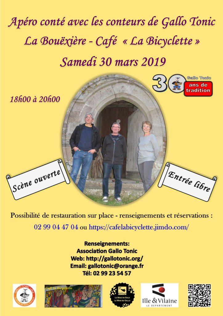 Samedi 30 mars : Apéro conté -La Bouëxière