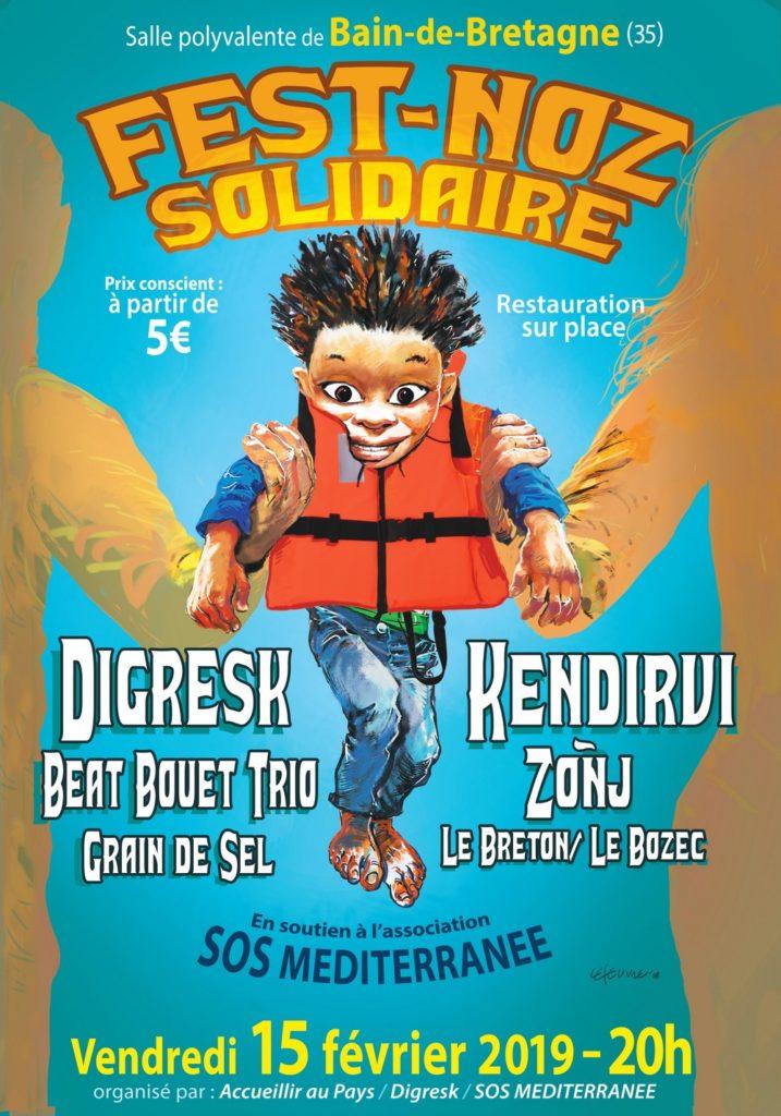 Vendredi 15 février : Fest noz solidaire - Bain de Bretagne