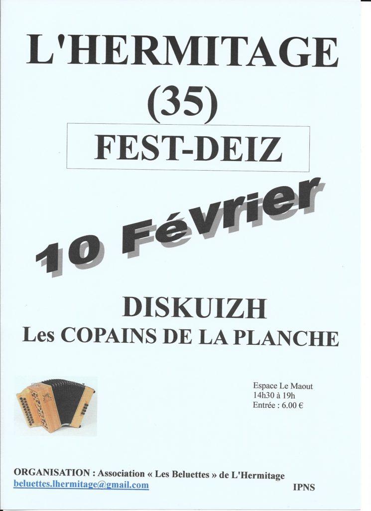 Dim 10 Février : Fest-Deiz – L'Hermitage