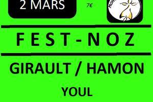 Samedi 2 Mars : Fest Noz à Montfort-sur-Meu