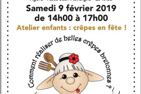 Samedi 9 Février : Atelier crêpes au Rheu
