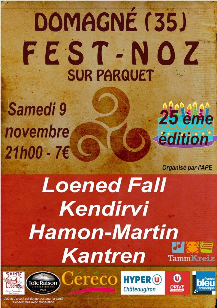 Samedi 9 Novembre - Fest noz Domagné