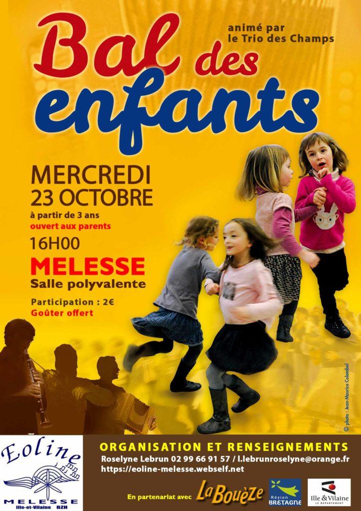Mercredi 23 Octobre - Bal des enfants Melesse