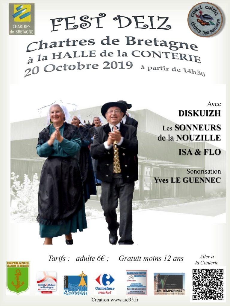 Dimanche 20 Octobre - Fest deiz Chartres de Bretagne