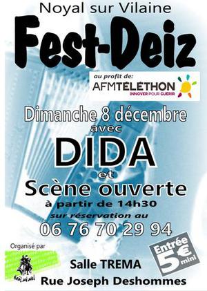 Dimanche 8 décembre - Fest-noz - Noyal-Sur-Vilaine