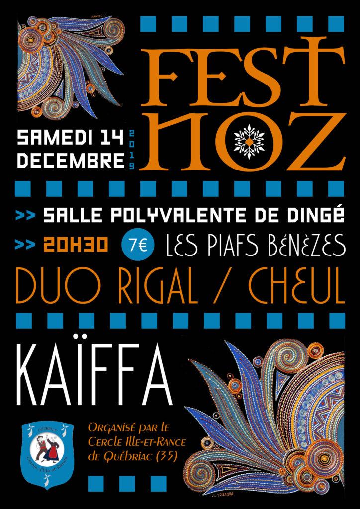 Samedi 14 décembre - Fest-noz - Dingé