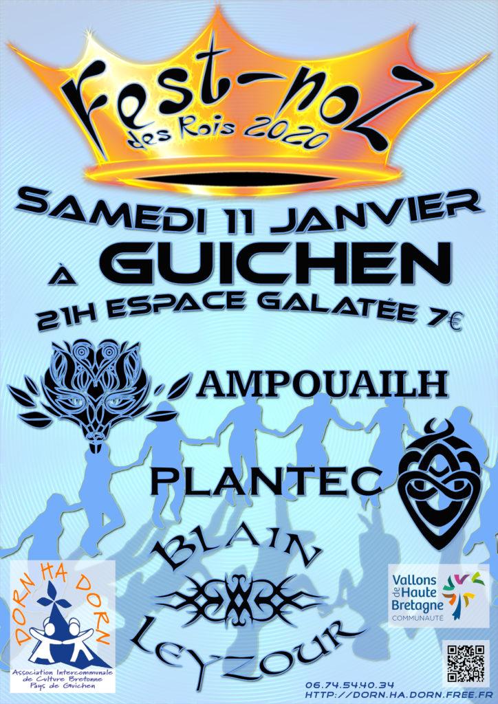 Samedi 11 janvier - Fest-noz des Rois - Guichen