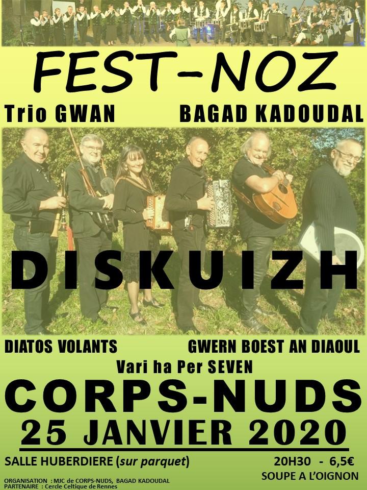 Samedi 25 janvier - Fest-noz - Corps Nuds