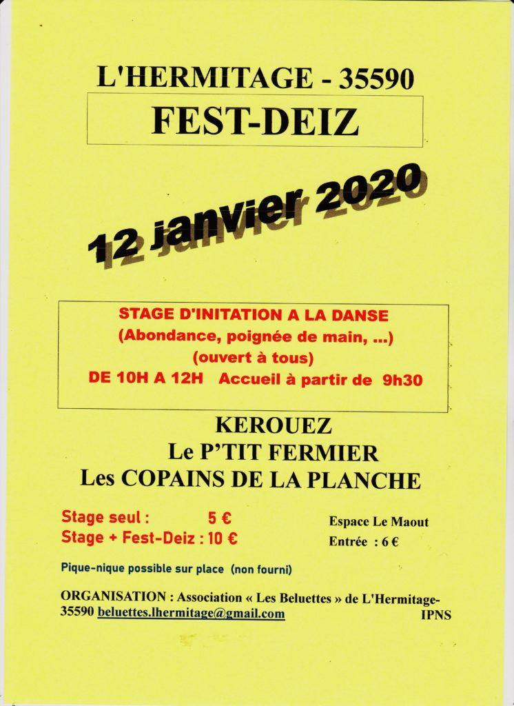 Dimanche 12 janvier - Fest-deiz - L'Hermitage