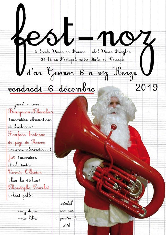 Vendredi 6 décembre - Fest-noz - Rennes