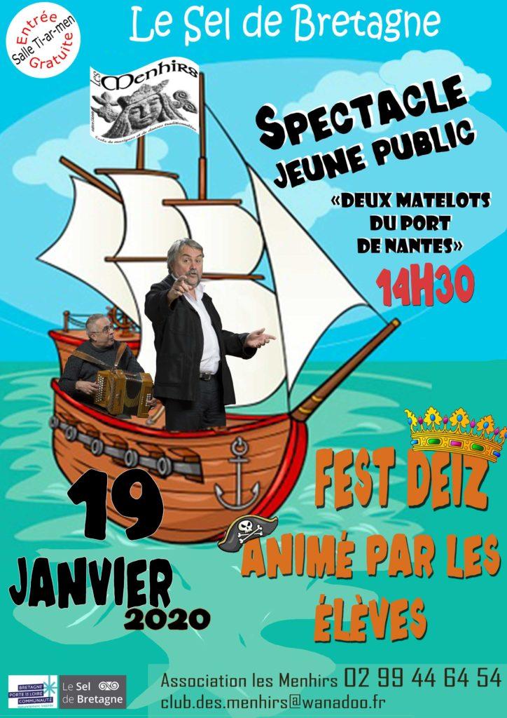 Dimanche 19 janvier -  Spectacle / Fest-deiz - Le Sel de Bretagne