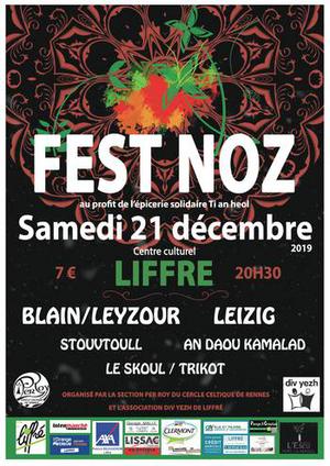 Samedi 21 décembre - Fest-noz - Liffré
